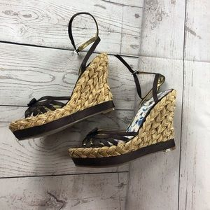 🔥 Guess Straw Wedges 6